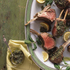 Rack of Lamb with Mint and Capers