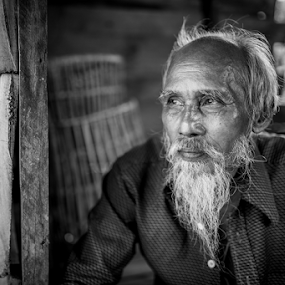 Every Man Has A Story To Tell by Mahdi Hussainmiya - People Portraits of Men ( wisdom, old man, portrait, aged, character )