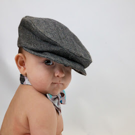 The Look by Rene Sheppard - Babies & Children Babies ( babies, color, boys, portrait, hat )