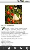 Screenshot of Vegetable Gardening Guide