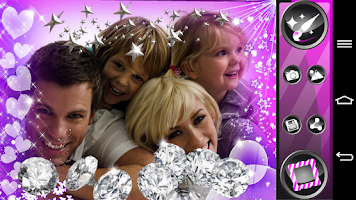 Screenshot of Glitter Photo Frames