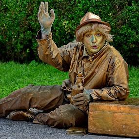 Happy by Iulia Breuer - Public Holidays Halloween ( trunk, gold, bottle, man, entertainer,  )