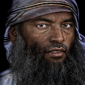 BEARD MAN  by Angelito Cortez - People Portraits of Men ( face, texture, beard, man, portrait, eyes )