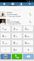 Screenshot of Swipe Dialer GS4 Light Theme