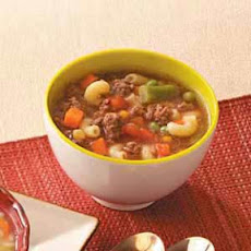 Beef Macaroni Soup Recipe