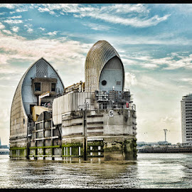 Thames Barrier by Linda Casey - Buildings & Architecture Architectural Detail ( flooding, london, thames, flood, dramatic, river thames, river,  )