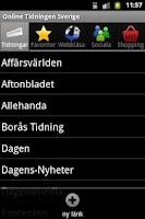 Screenshot of Online Tidningen Sverige