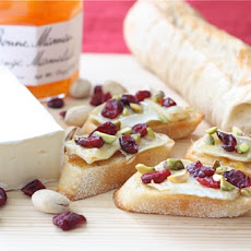 Cranberry Orange Brie Crostini