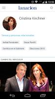 Screenshot of LA NACION