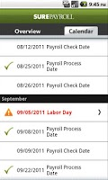 Screenshot of Mobile Payroll by SurePayroll