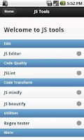 Screenshot of Javascript Tools