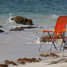 The Beach by Bridgette Rodriguez - Artistic Objects Furniture ( water, beaches, chair, chairs, ocean, beach )