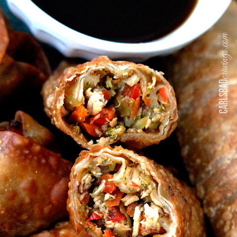 Sesame Chicken Egg Rolls with Hoisin Sweet and Sour Sauce #MCSkilletSauce