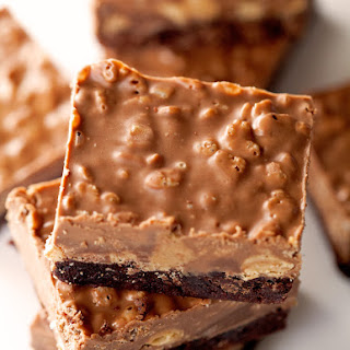 Crispy Peanut Butter Cup Brownies
