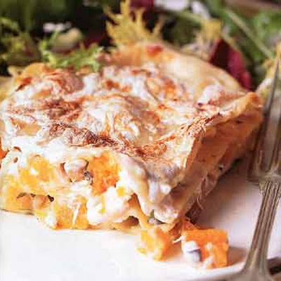 Butternut Squash and Hazelnut Lasagne