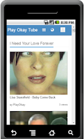 Screenshot of Play Okay Tube
