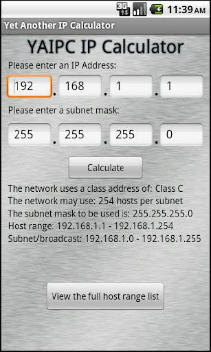 Yet Another IP Calculator
