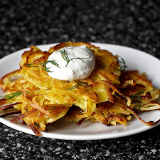 Potato-Parsnip Latkes with Horseradish and Dill