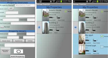 Screenshot of Rental Property Manager Lite