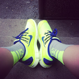 Neon nikes by Stephen Statnick - Artistic Objects Clothing & Accessories