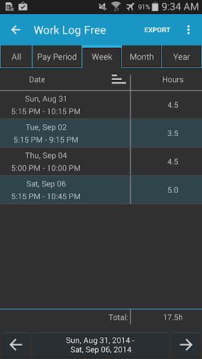 Work Log Pro - screenshot