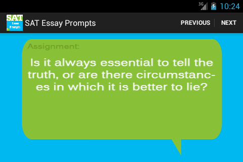 ssat essay prompts In this lesson, find out what an essay prompt is and when you will encounter it learn how to use the prompt to develop your ideas and topic.
