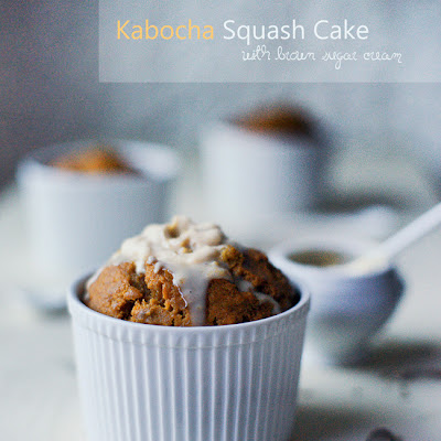 Kabocha Cakes with Brown Sugar Cream