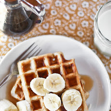 Banana Bread Yeasted Waffles