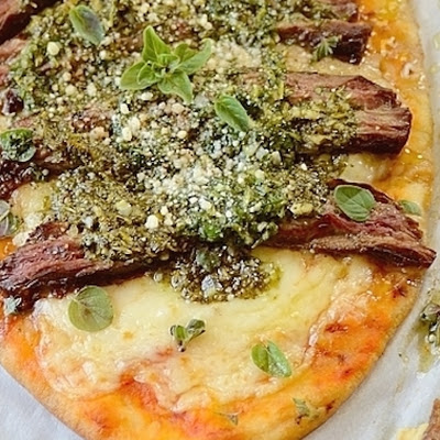 Gaucho-Style Flatbread with Chimichurri