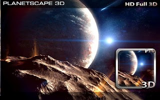 Screenshot of Planetscape 3D Live Wallpaper