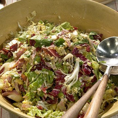Warm Salad with Egg and Pancetta