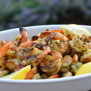 Grilled Pesto Shrimp