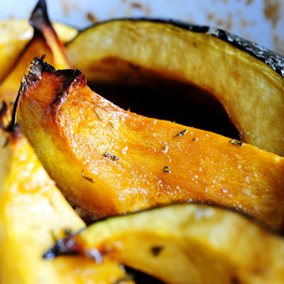 Sweet-Roasted Rosemary Acorn Squash Wedges