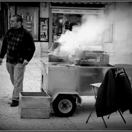 Hot by Ana Borges - City,  Street & Park  Street Scenes ( hot, chestnuts )