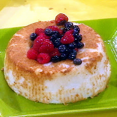Angel Food Cake with Berries and Whipped Cream