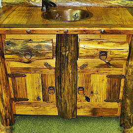 Recycled Wormy Chestnut by Diane Merz - Artistic Objects Furniture (  )