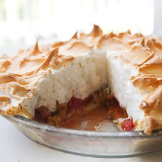 Rhubarb Orange Meringue Pie