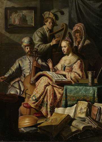 Rembrandt, musical allegory