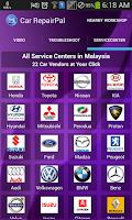Screenshot of Car RepairPal