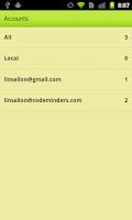 Screenshot of iNotes