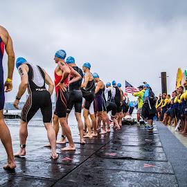 Starting Line by Brandon Dorn - Sports & Fitness Swimming