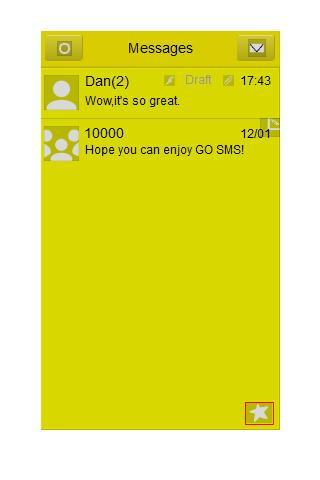 GO SMS Theme - Just Yellow