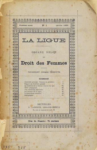 La Ligue, the Belgian voice of Women's Rights, 1893