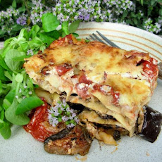 Roast Vegetable Lasagne With Spinach and Ricotta