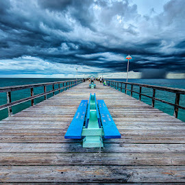 The Bench on the Pier by Matthew Haines - Buildings & Architecture Architectural Detail
