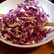Red Cabbage Salad With Apples, Walnuts And Blue Cheese
