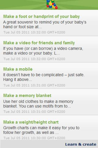 Activities for you your baby