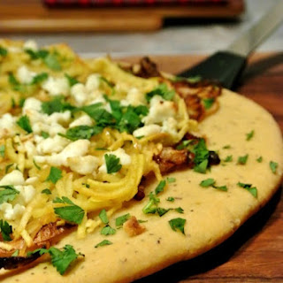 Caramelized Onion Apple and Goat Cheese Pizza {Low Carb}