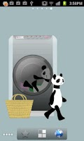 Screenshot of Panda washing Live Wallpaper