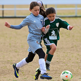 Mine, Mine ,Mine by Roy Walter - Sports & Fitness Soccer/Association football ( girls, ball, fitness, sports, game, soccer )